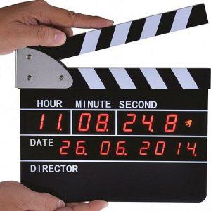 Clapperboard Digital Alarm Clock
