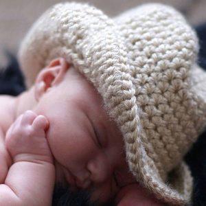 Crochet Baby Cowboy Hat