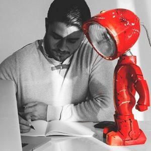 Customizable Robot Lamp