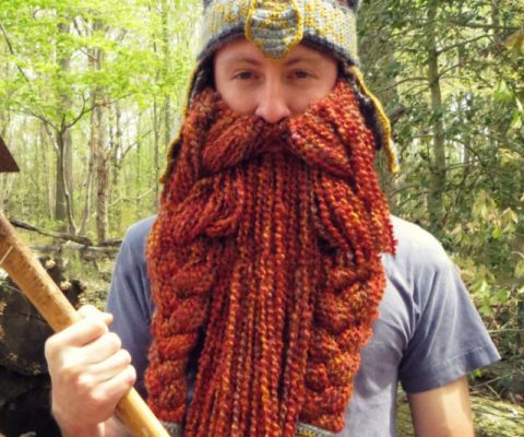 DIY Gimli Beared Beanie