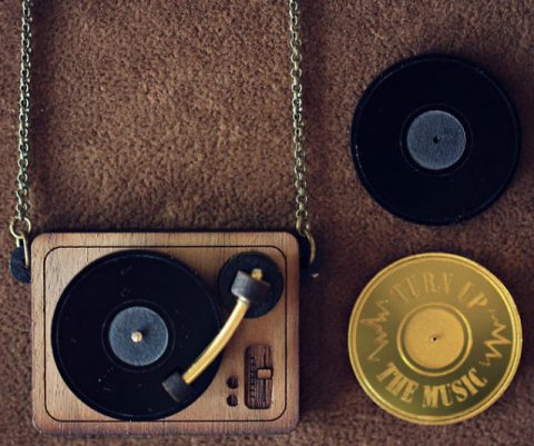 DJ Turntable Necklace