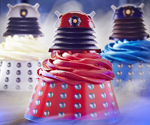 Dalek Cupcake Wraps and Toppers