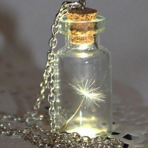 Dandelion Seed In A Jar Necklace