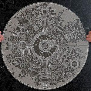 Death Star Blueprints Poster