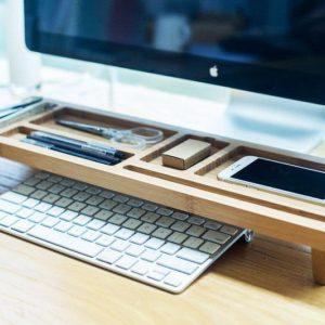 Desktop Wooden Keyboard Rack