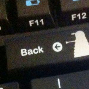 Doctor Who Dalek Backspace Key