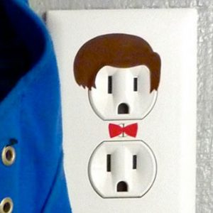 Doctor Who Electrical Outlet Sticker