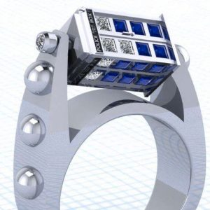 Doctor Who Spinning TARDIS Ring
