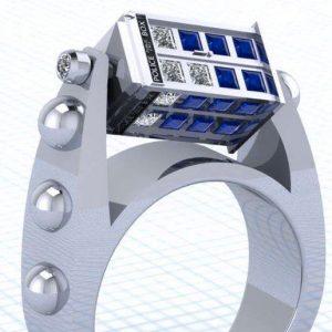 Doctor Who Spinning TARDIS Ring