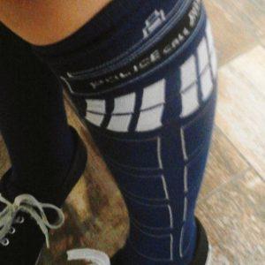 Doctor Who TARDIS Knee High Socks