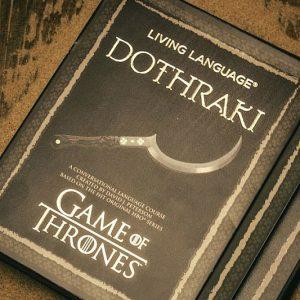Dothraki Language Instructional Book