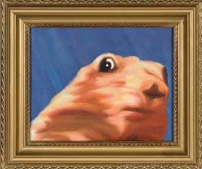 Dramatic Chipmunk Painting