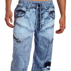 Fake Jeans Pajama Pants