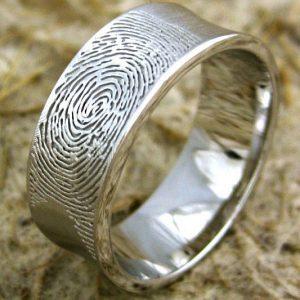 Fingerprint Wedding Band