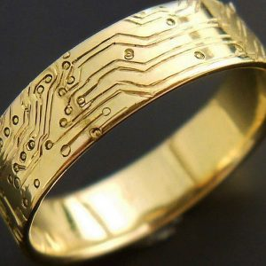 Gold Circuit Board Ring