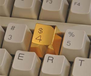 Gold Keyboard Button