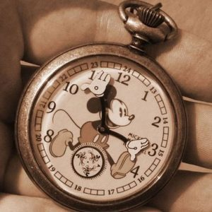 Gold Mickey Mouse Pocket Watch