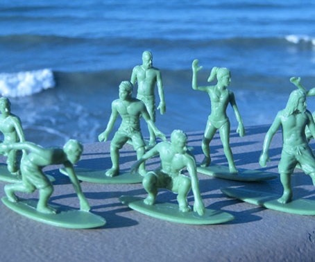 Green Army Men Surfboarders