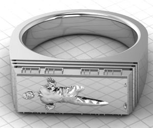 Han Solo Frozen In Carbonite Ring