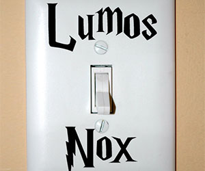 Harry Potter Light Switch Sticker