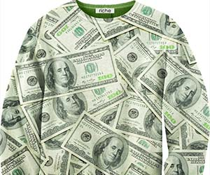 Hundred Dollar Bills Sweater