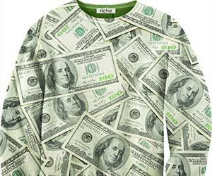 Hundred Dollar Bills Sweater