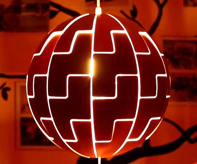 Ikea Death Star Lamp Interwebs