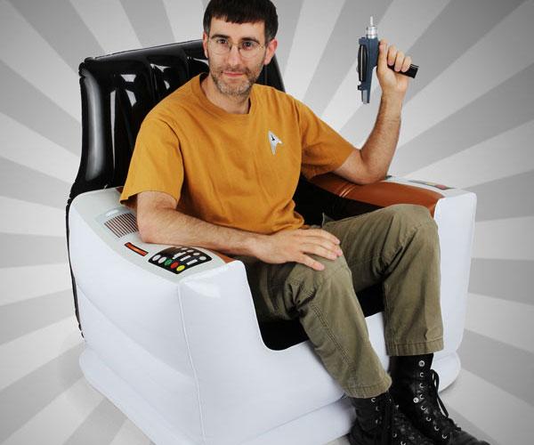 Inflatable Star Trek Captain's Chair