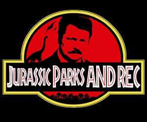 Jurassic Parks And Rec Shirt