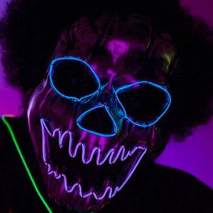 LED Neon Skull Mask