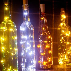 LED Wine Bottle Lamp Set