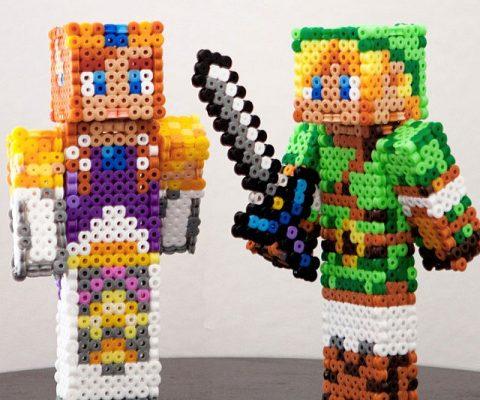 Legend Of Zelda Minecraft Figurines