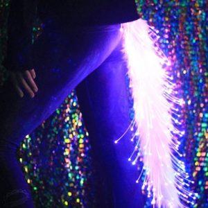 Light Up Fiber Optic Furry Tail
