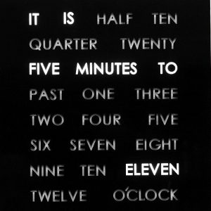 Light Up Word Clock
