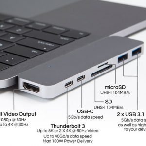 MacBook Pro Thunderbolt 3 USB-C Hub