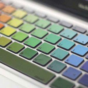 MacBook Rainbow Keyboard