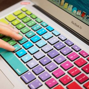 MacBook Rainbow Keyboard Decal