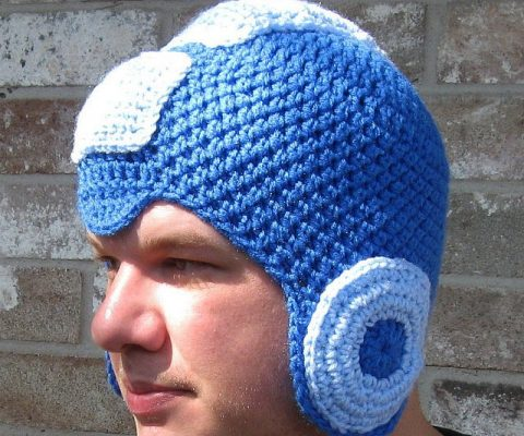 Mega Man Crochet Beanie