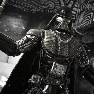 Metal Darth Vader Statue
