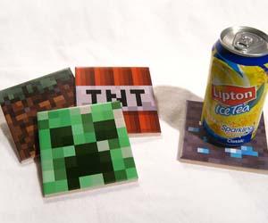 Minecraft Drink Coasters