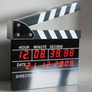 Movie Slate Digital Alarm Clock