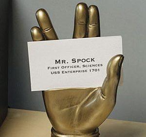 Mr. Spock Business Card Holder