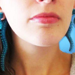 Octopus Tentacle Earrings