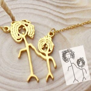 Personalized Children's Art Necklace