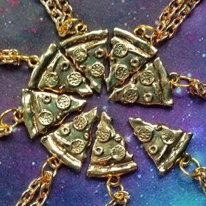 Pizza Slice Friendship Necklace