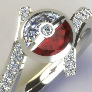Pokemon Diamond Engagement Ring