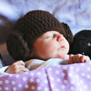 Princess Leia Baby Hat