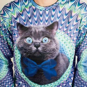 Psychedelic Cat Sweater