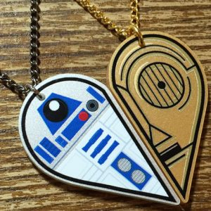 R2-D2 C-3PO BFF Necklace