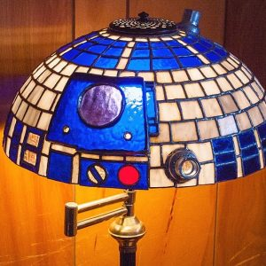 R2-D2 Stained Glass Lampshade
